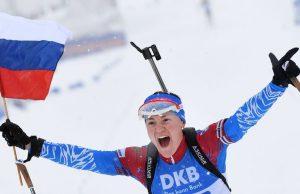 Биатлонистки из России стали победителями эстафеты на этапе Кубка мира