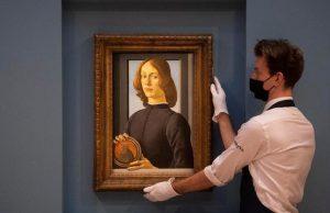 Работа Боттичелли «Молодой человек с медальоном» была продана за $92 млн