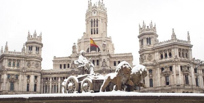 Мадрид будет объявлен зоной катастрофы из-за чрезмерного выпадения снега