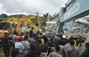 Жертвами землетрясения в Индонезии стало более полусотни человек