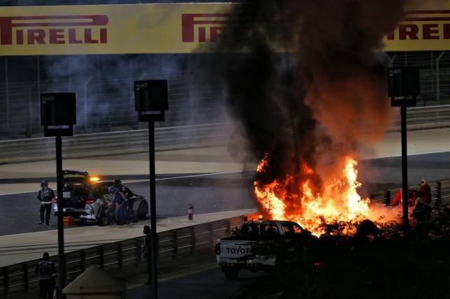 Пилот «Формулы-1» показал ожоги, полученные во время аварии