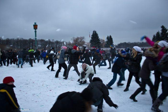 В Мадриде массовая игра в снежки завершилась вмешательством правоохранительных органов