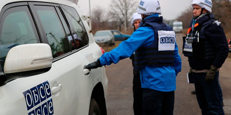 Беспилотник ОБСЕ подвергся обстрелу на Донбассе