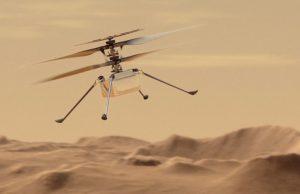 Беспилотный летательный космический вертолет совершил первый полет на Марсе