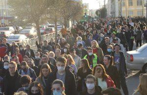 В Екатеринбурге прошел несогласованный митинг, в котором приняли участие 5 000 человек