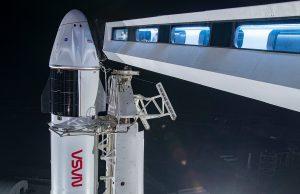 Космически й аппарат Crew Dragon с четырьмя астронавтами на борту успешно отправился на МКС