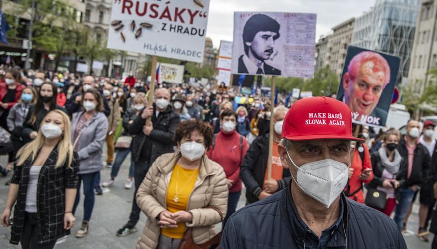 В Чехии прошла волна митингов: выступающие обвиняют президента Земана в пророссийских взглядах