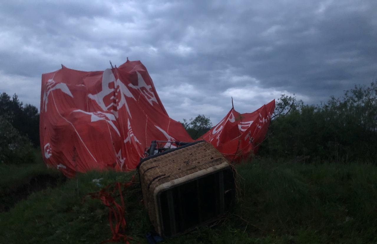 В Украине упал воздушный шар с пассажирами