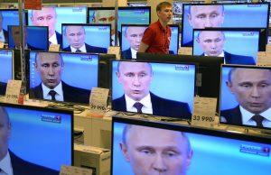 Песков прокомментировал ежедневное появление Путина в телеэфире