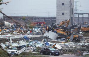 В Китаев результате торнадо погибли 12 человек