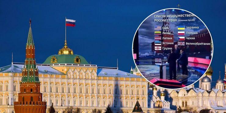 Россия возможно увеличит список недружественных стран