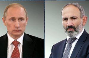 Путин обсудил с Пашиняном ситуацию на армяно-азербайджанской границе