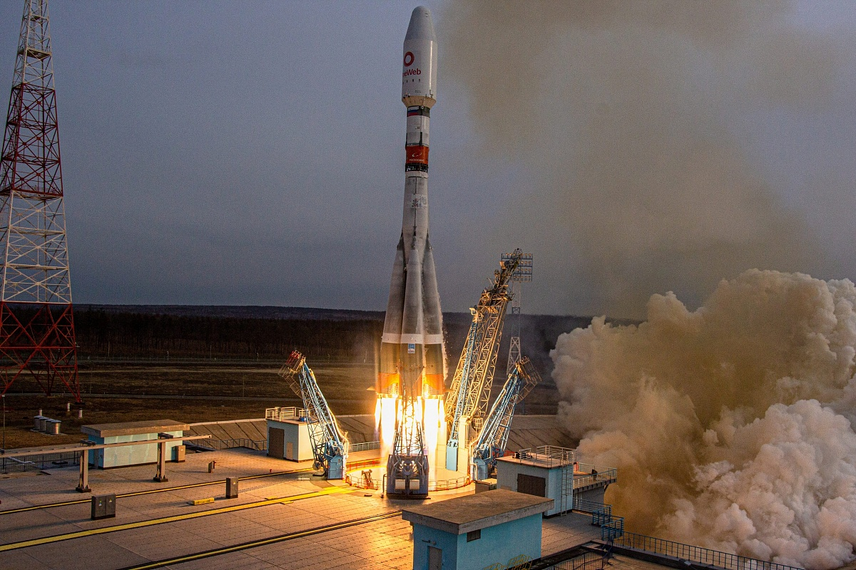 Ракета «Союз» со спутниками OneWeb стартовала с космодрома