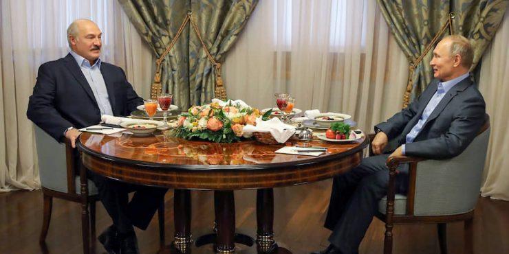 Переговоры Путина и Лукашенко завершились