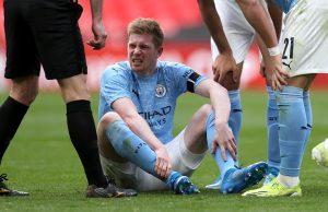 Игрок «Манчестер Сити» Кевин де Брейне получил травмы в финальном состязании Лиги Чемпионов