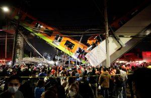 В Мехико разрушился мост метро: число жертв достигло 23 человек
