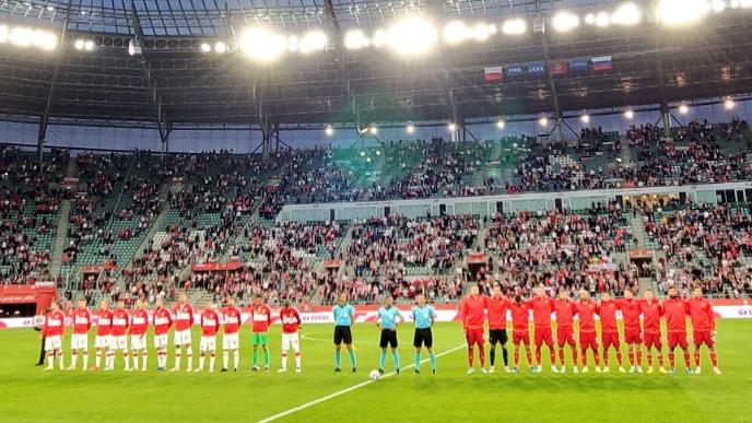 Российская футбольная сборная провела товарищеский матч с Польшей