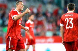 Сборная России по футболу выиграла у Болгарии со счетом 1:0