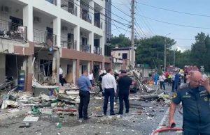 В результате взрыва в гостинице Геленджика пострадали пять человек и один погиб