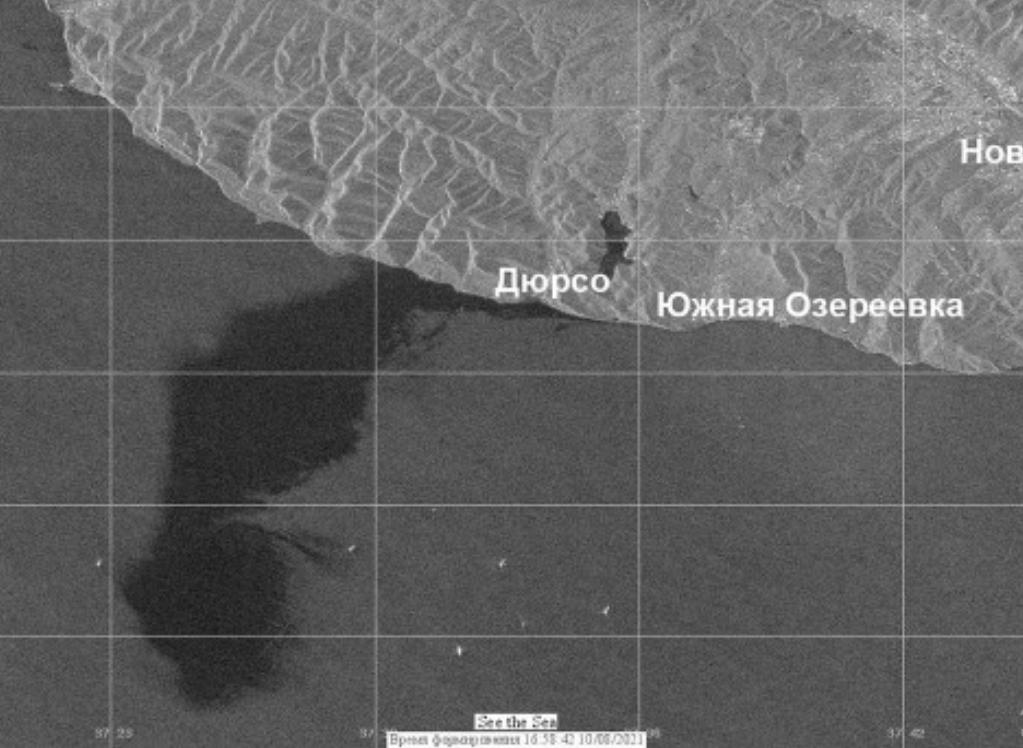 Разлитое в Черном море пятно нефти в 400 тысяч раз больше, чем предполагалось изначально