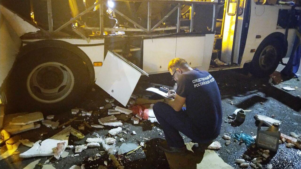 Правоохранители назвали основную версию взрыва автобуса в Воронеже